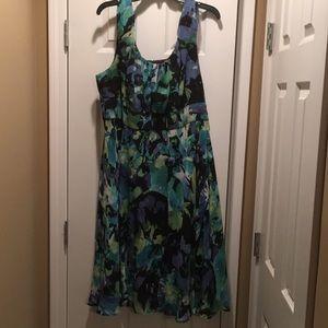 Dress barn black and floral dress